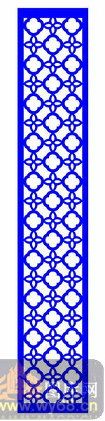 中式镂空装饰003-花朵-中式1-122-木雕花镂空隔断