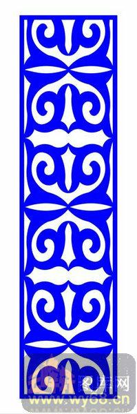 中式镂空装饰003-艺术花纹-中式1-098-镂空矢量图
