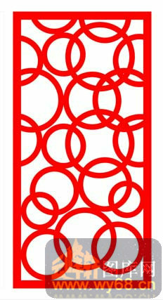 中式镂空装饰003-环环相扣-中式1-156-镂空雕花矢量
