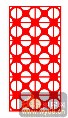中式镂空装饰003-圆点-中式1-035-镂空雕花矢量图