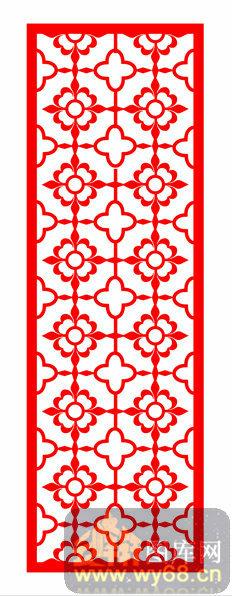 002-花开富贵-镂空装饰单式002-210-镂空花纹矢量图