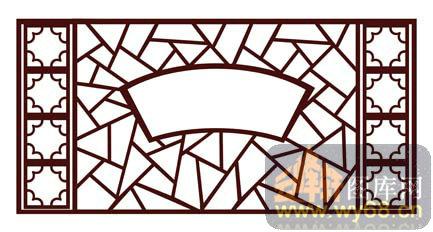 中式镂空装饰003-扇形窗棂-中式1-109-屏风