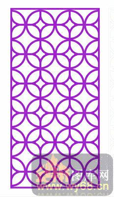 中式镂空装饰003-紫色圆形花纹-中式1-071-雕花