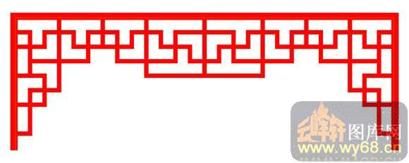 中式镂空装饰003-门棂-中式1-211-木雕花镂空隔断
