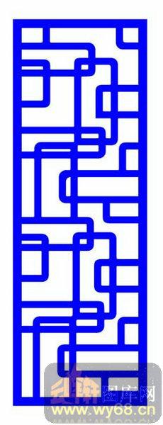 中式镂空装饰003-峰回路转-中式1-165-镂空雕花矢量