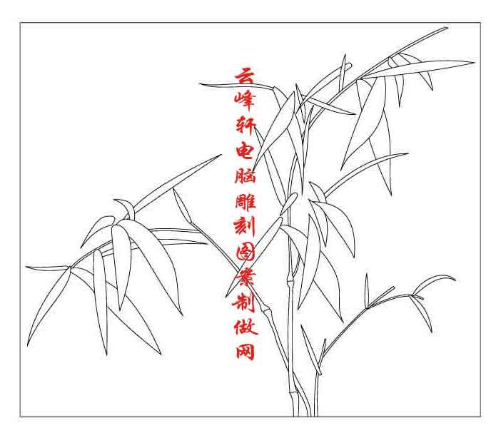 雕刻矢量图路径图案系列梅兰竹菊矢量路径图-雕刻图
