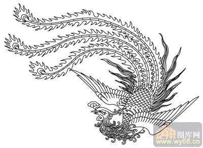 凤-矢量图-鸾回凤翥-huangf008-中国传统凤图