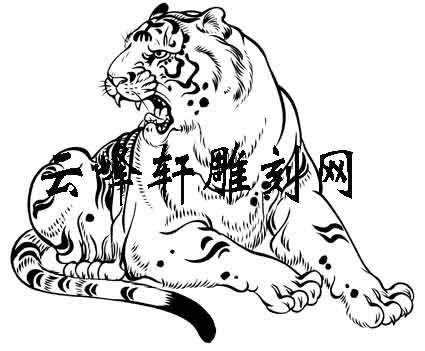 虎3-矢量图-燕颔虎头-112-虎路径图