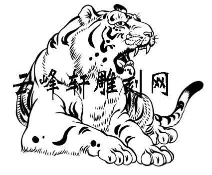 虎3-矢量图-势成骑虎-114-虎路径图
