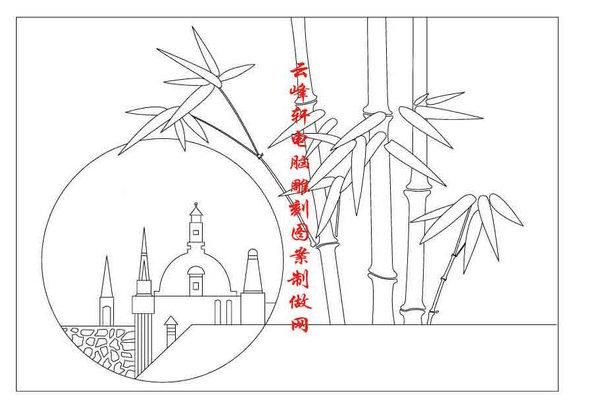 梅兰竹菊-矢量图-竹子-mlxj104-路径梅兰竹菊图片