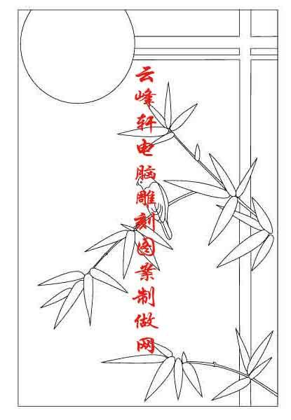 梅兰竹菊-矢量图-竹子-mlxj085-梅兰竹菊刻绘图