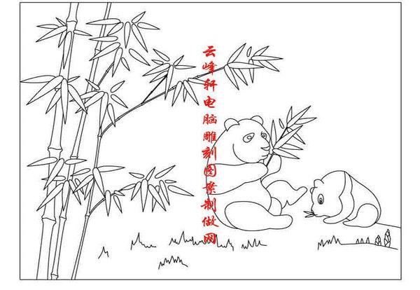 熊猫吃竹子简笔画步骤