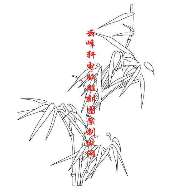梅兰竹菊-矢量图-竹子-mlxj118-矢量梅兰竹菊