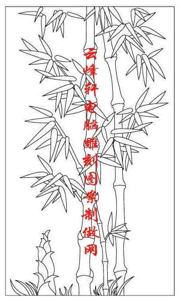 梅兰竹菊-矢量图-竹子-mlxj078-矢量梅兰竹菊