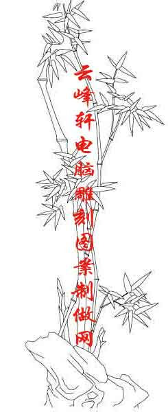 梅兰竹菊-矢量图-竹子-mlxj041-梅兰竹菊雕刻图