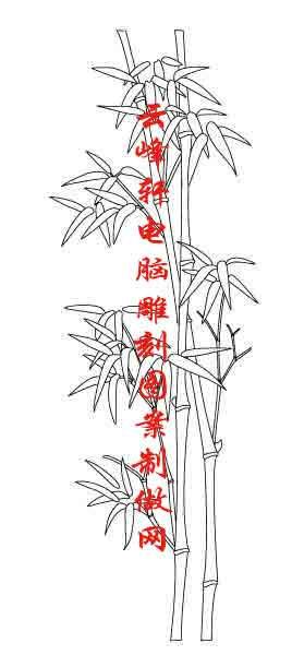 梅兰竹菊-矢量图-竹子-mlxj056-梅兰竹菊雕刻图