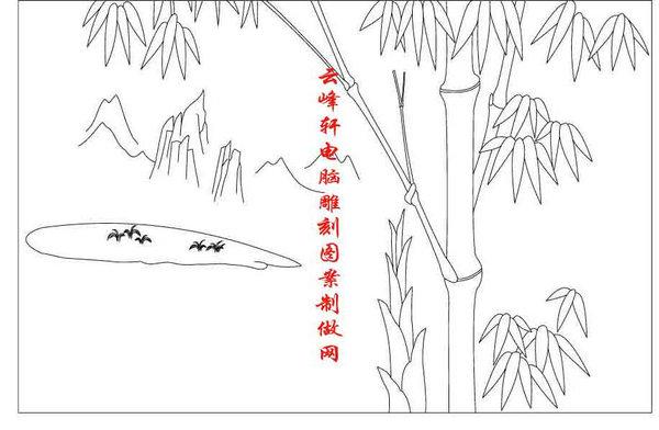 梅兰竹菊-矢量图-竹子-mlxj089-路径梅兰竹菊图片