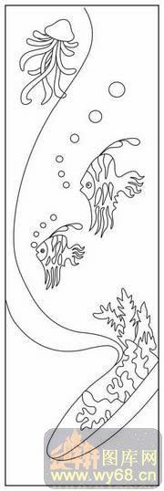 幼儿园海底世界简笔画带颜色全乌龟