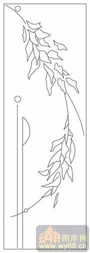 雕刻矢量图路径图案系列