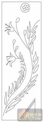 花瓶和花简笔画背景黑白