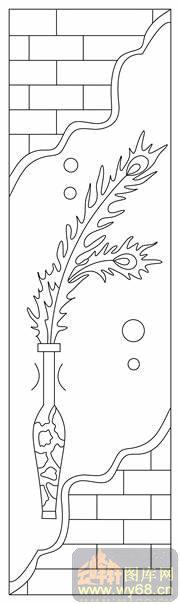 花瓶装饰简笔画图案