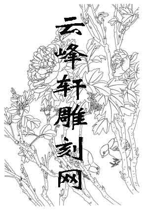 工笔牡丹-矢量图-5牡丹小鸡-中国传统牡丹图