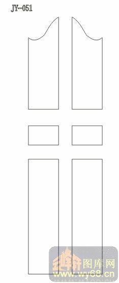 雕刻门图01系列-矢量图-jy-043-雕刻木门图