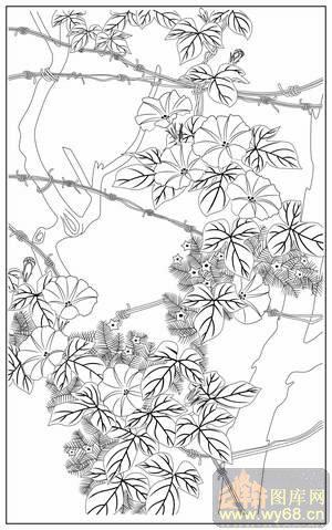 花藤71-路径图,矢量图,云峰轩雕刻图库网