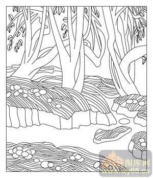 可爱小溪简笔画
