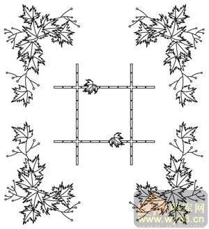素描枫叶画法步骤图片