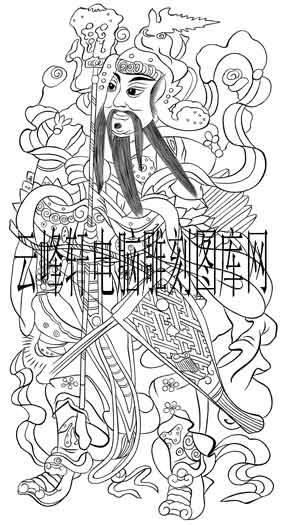 中国传统神话人物仙人图-矢量图-门神5-路径神话人物仙人图片