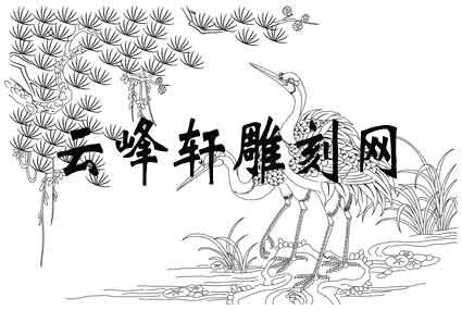 路径仙鹤-矢量图-松鹤延年-slxhs061-仙鹤路径图