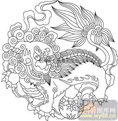 100个中国传统吉祥图-矢量图-狮威-b-030-吉祥图案