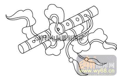 100个中国传统吉祥图-矢量图-笛子-b-078-吉祥图案