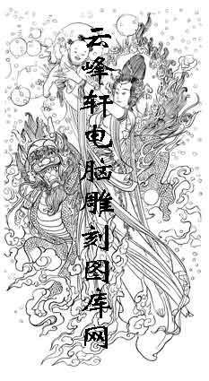 锦瑟年华-矢量图-15麒麟送子图-国画仕女图