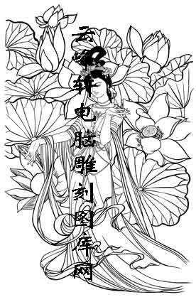 锦瑟年华-矢量图-53回眸一笑-中国传统仕女图