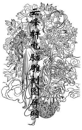 锦瑟年华-矢量图-28玉堂富贵图-仕女画路径图