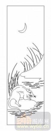03动物系列-老鼠-00072-玻璃门