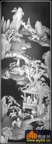 八仙006-长桥卧波-04-浮雕灰度图