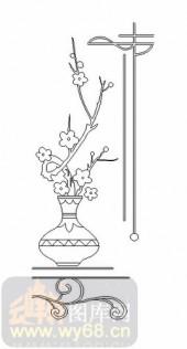 装饰玻璃-07四扇门(3)-花瓶-00030