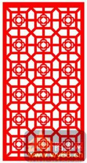 中式镂空装饰001-梅花-中式镂空装饰001-008-玄关隔断