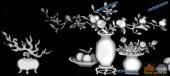 03-花瓶-024-花鸟浮雕灰度图
