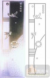 喷砂玻璃-浮雕贴片-小鸟-00090