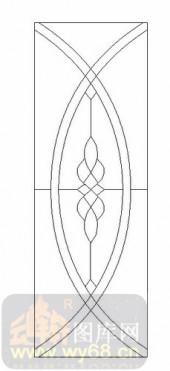 喷砂玻璃-12镶嵌-艺术花纹-00054