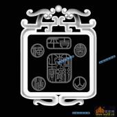 01-福-067-浮雕灰度图