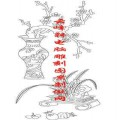 梅兰竹菊-白描图-梅花 兰草 石榴-mlxj005-梅兰竹菊线描图