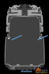 01-双龙-023-浮雕灰度图