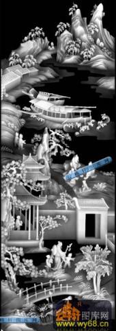 01-春游-042-玉雕灰度图