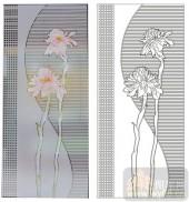 2011设计艺术玻璃刻绘-格子花-艺术玻璃图库