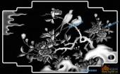 03-双飞翼-060-花鸟精雕灰度图